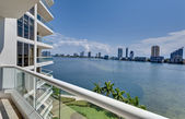Miami Beach Balcony — Stock Photo