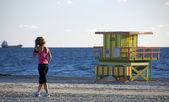 работа на пляже — Стоковое фото