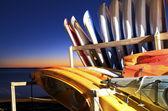 Caiaques ao pôr do sol — Foto Stock