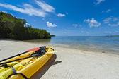 Kayak in the beach — Stock Photo
