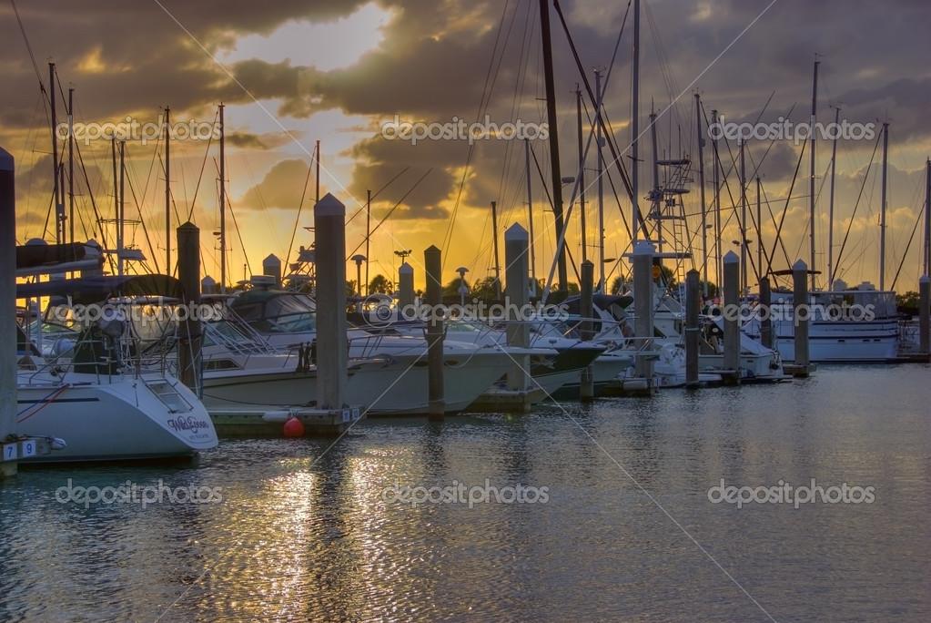 marina de Crandon park en biscayne clave � Foto stock ...