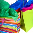 Vertical Shopping Bags — Stock Photo