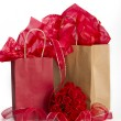 Stock Photo: Valentine paperbag presents