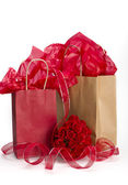 Valentine paperbag presents — Stock Photo