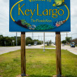 Welcome sign in Key Largo — Stock Photo