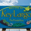 Stock Photo: Key Largo welcome sign