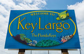 Key Largo welcome sign — Stock Photo