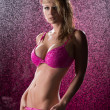 Royalty-Free Stock Photo: Sensual blonde woman in pink lingerie