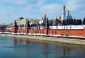 Day close up view of the Kremlin in Moscow — Stock Photo