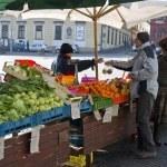Vegetable Market in Brno — Stock Photo