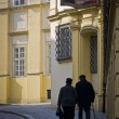 Couple in the old town of Brno — Stock Photo