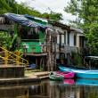 Boat Dock in Frio River — Stock Photo