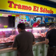 Merchant in the San Jose Central Market — Stock Photo