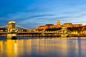Ponte da cadeia em budapeste — Fotografia Stock