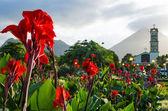 Plaza de La Fortuna in Costa Rica — Stock Photo