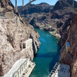 Hoover Dam Vertical Panorama — Stock Photo