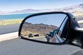 Road congestion reflection — Stock Photo