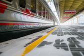 Perron in het station van leningradsky — Stockfoto