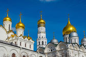 Cupolas in the Kremlin — Stock Photo