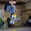 Skateboarder Jumps — Stock Photo