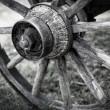 Old wagon wheel — Stock Photo #25773407