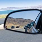 Road congestion reflection — Stock Photo