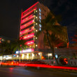 Victor Hotel in Miami Beach, the Hotel is located in worlwide famous Ocean Drive — Stock Photo