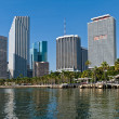 Miami Bayfront Park and downtown. — Stock Photo