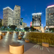Miami Bayfront Park in Christmas — Stock Photo