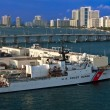 Miami US Coast Guard Boat — Stock Photo