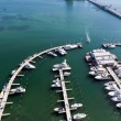 Aerial view of Marina in Biscayne Bay — Stock Photo