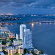 Aerial View of Biscayne Bay at Night — Stock Photo #25775927