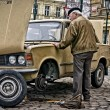 Stock Photo: Old Car in Prague