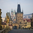 Stock Photo: Charles Bridge Lesser Towers in Prague