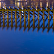 Vltava river logs at night — Lizenzfreies Foto