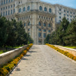 Entrance to the Palace of Parliament in Bucharest — Stock Photo