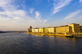 View of Budapest from Danube — Stock Photo