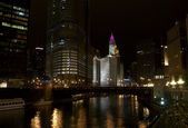 View of Chicago River at Wabash Avenue — Stock Photo
