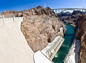 Hoover Dam panorama — Stock Photo