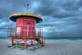 Typical Shelter for Lifeguards in Miami Beach — Stock Photo