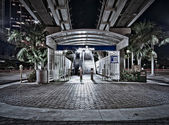 Bayfront Park Metromover Station — Stock Photo