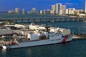 Miami US Coast Guard Boat — Stock Photo