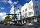 Ocean Drive and 7th Street corner in South Beach in Miami — Stock Photo