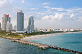 Miami Beach aerial view — Stock Photo