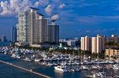 Marina in South Beach — Stock Photo