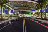 Street to new Marlins Park in Miami — Stock Photo
