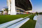 Marlins Park at dusk — Stock Photo