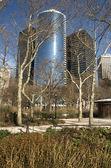 Battery park wolkenkratzer — Stockfoto
