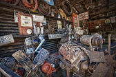 Old Motors in Garage — Stock Photo