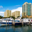 Boats in Miami Beach Marina — Stock Photo